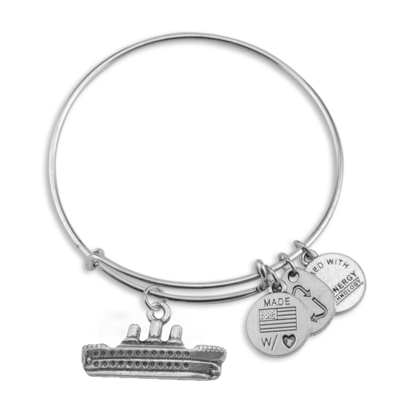 Ship Antique Silver Plated Charm Alex And Ani Bangle For Gifts - Alex and ani cruise ship bangle