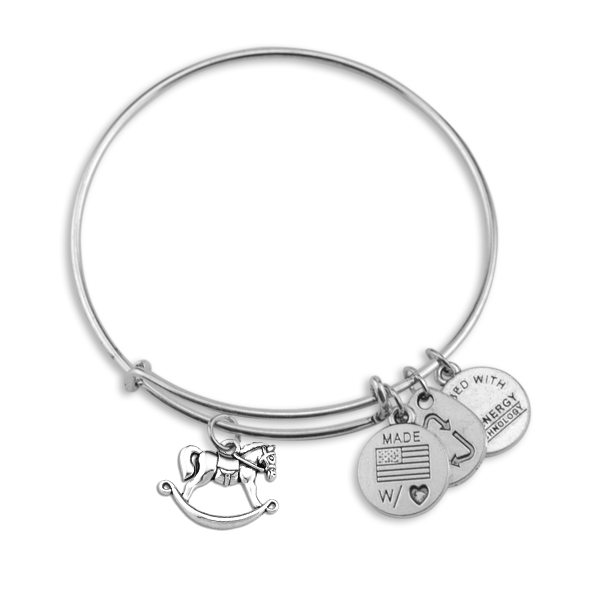c98c0a80f15da4 Factory Direct Zinc Alloy Antique Silver Plated Merry Go Round Horse Charm  Alex and Ani Bangle